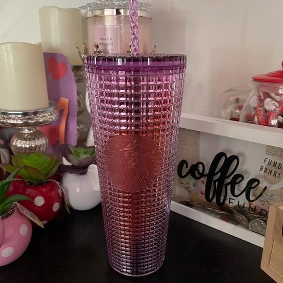 Starbucks Berry Purple Grid Ombre Tumbler
